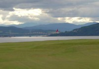 Kessock bridge behind 13th green