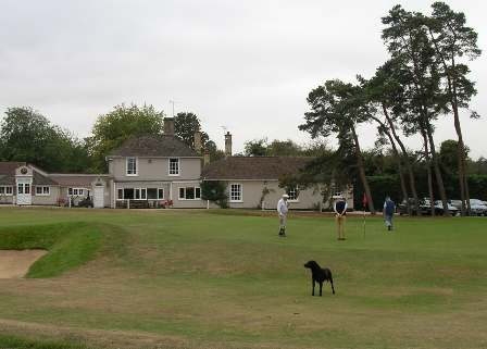 Clubhouse and 9th green