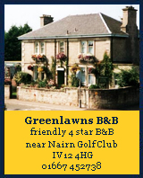 Greenlawns B&B, Nairn, Finest Courses