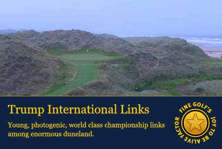 trump international links, finest golf courses