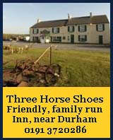 three horse shoes running waters durham, accommodation durham,