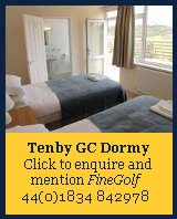 tenby golf club, tenby dormy house