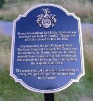 trump international links plaque,