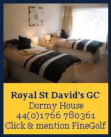 royal st davids golf club, dormy house,